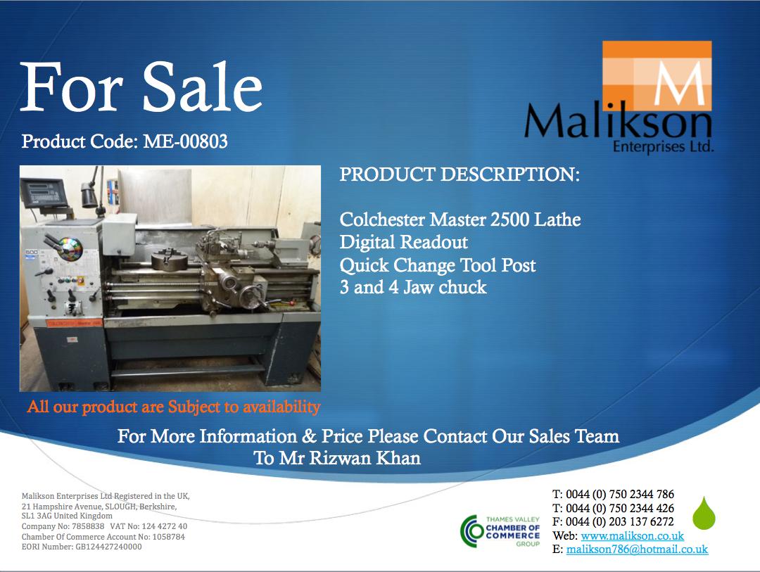 Malikson Enterprises Ltd